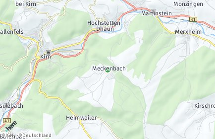 Stadtplan Meckenbach bei Kirn