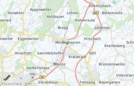 Stadtplan Meckenbeuren OT Liebenau