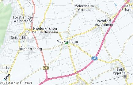 Stadtplan Meckenheim (Pfalz)