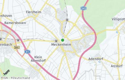 Stadtplan Meckenheim (Rheinland)