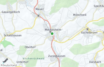 Stadtplan Meckesheim