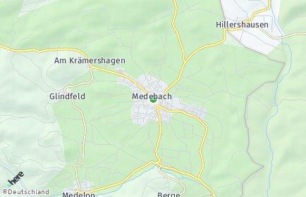 Stadtplan Medebach OT Medelon