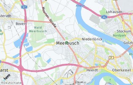 Stadtplan Meerbusch OT Büderich