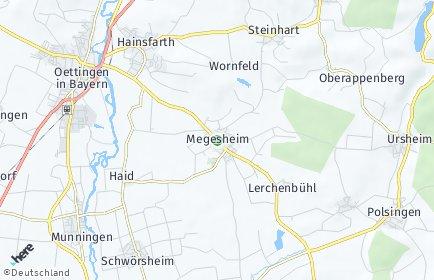 Stadtplan Megesheim