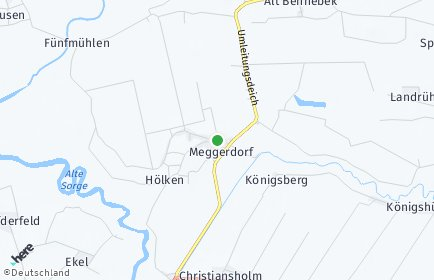 Stadtplan Meggerdorf
