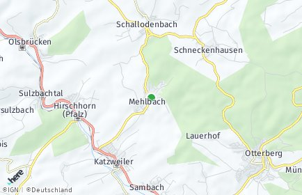 Stadtplan Mehlbach
