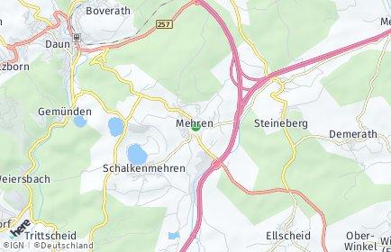 Stadtplan Mehren (Eifel)