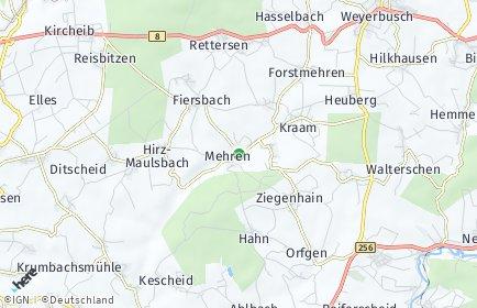 Stadtplan Mehren (Westerwald)
