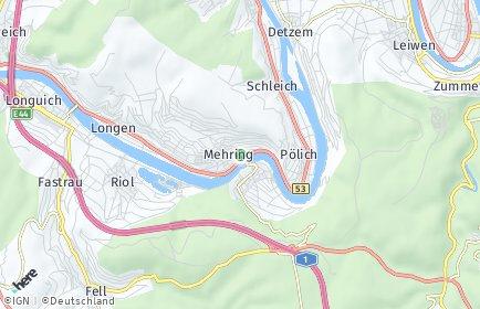 Stadtplan Mehring (Mosel)
