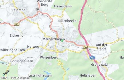 Stadtplan Meinerzhagen