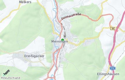 Stadtplan Meiningen