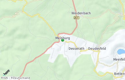 Stadtplan Meisburg