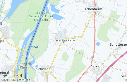 Stadtplan Meißenheim