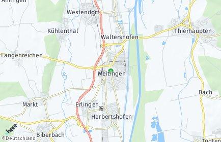 Stadtplan Meitingen
