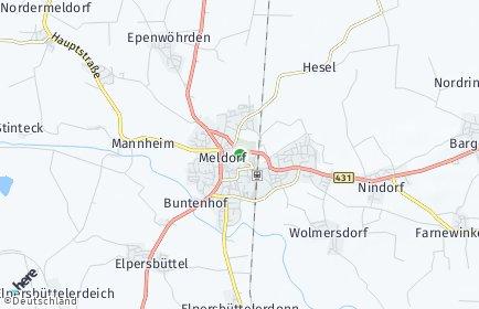 Stadtplan Meldorf
