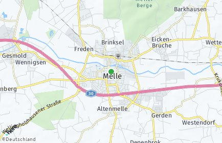 Stadtplan Melle OT Wennigsen