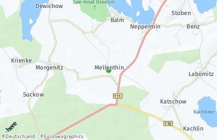 Stadtplan Mellenthin