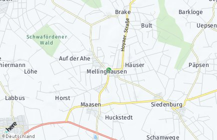 Stadtplan Mellinghausen