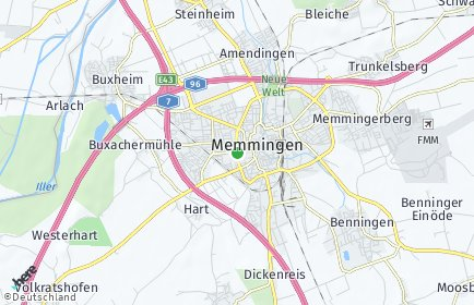 Stadtplan Memmingen OT Bleiche