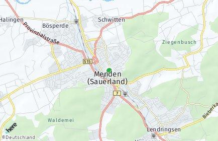 Stadtplan Menden (Sauerland) OT Ostsümmern
