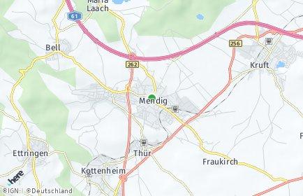 Stadtplan Mendig