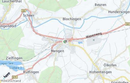 Stadtplan Mengen