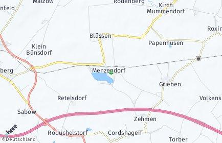 Stadtplan Menzendorf