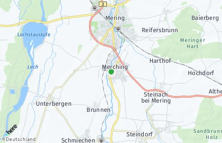 Stadtplan Merching