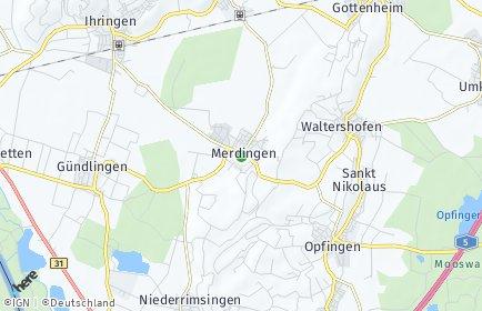 Stadtplan Merdingen