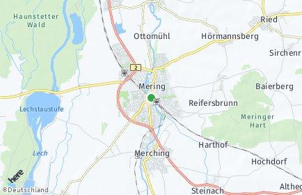 Stadtplan Mering