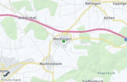 Stadtplan Merklingen (Alb)