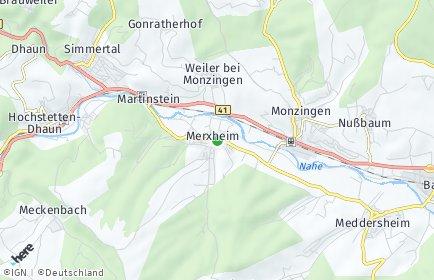 Stadtplan Merxheim