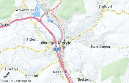 Stadtplan Merzig