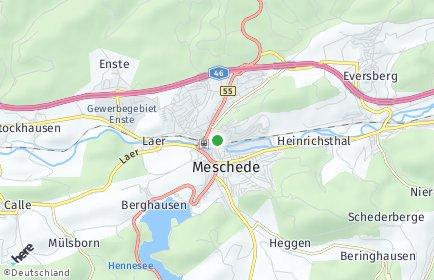 Stadtplan Meschede