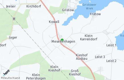 Stadtplan Mesekenhagen
