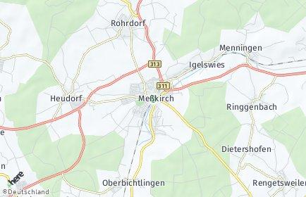 Stadtplan Meßkirch