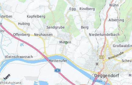 Stadtplan Metten