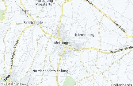 Stadtplan Mettingen