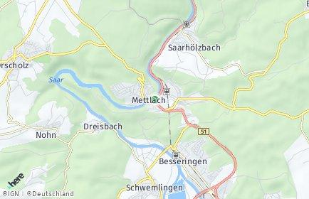 Stadtplan Mettlach