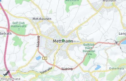 Stadtplan Mettmann