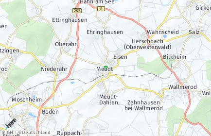 Stadtplan Meudt