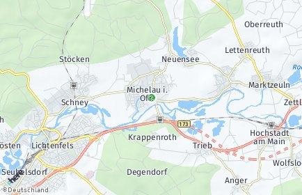 Stadtplan Michelau in Oberfranken