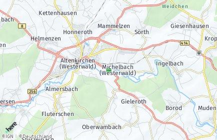 Stadtplan Michelbach (Westerwald)