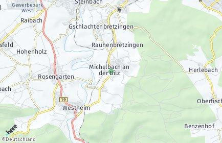 Stadtplan Michelbach an der Bilz OT Hirschfelden