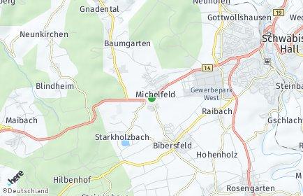Stadtplan Michelfeld