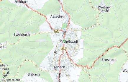 Stadtplan Michelstadt