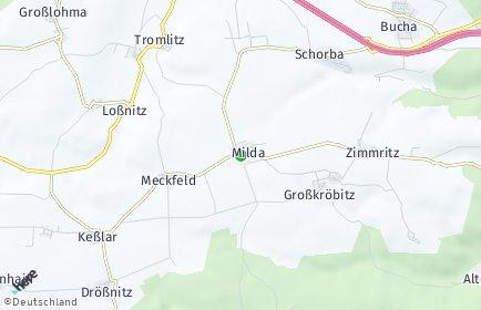 Stadtplan Milda