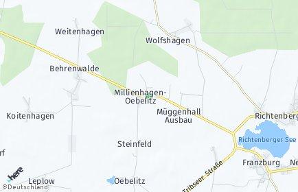 Stadtplan Millienhagen-Oebelitz