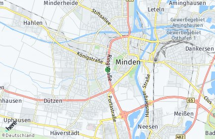 Stadtplan Minden OT Kutenhausen