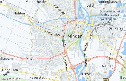 Stadtplan Minden OT Leteln-Aminghausen